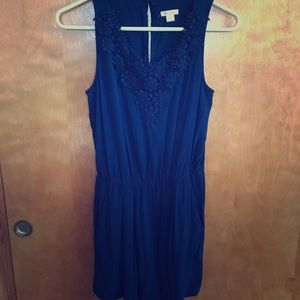 Beautiful Navy Blue Romper Size Small